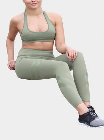 Light Army Green Causal Style Yoga Bodycon Leggings