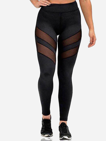 Yoga Leggings with Mesh Details