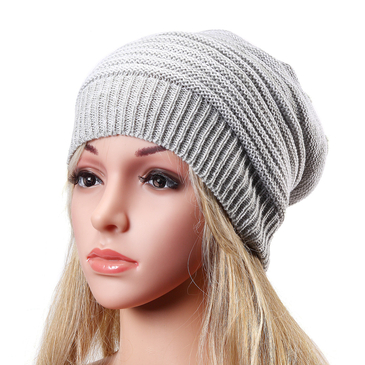 Grey and White Fashion Folded Design Hat