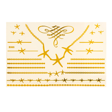 Star Pattern Jewelry Metallic Temporary Tattoo Sticker