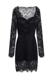 Open Back Eyelash Lace Body-Conscious Mini Dress