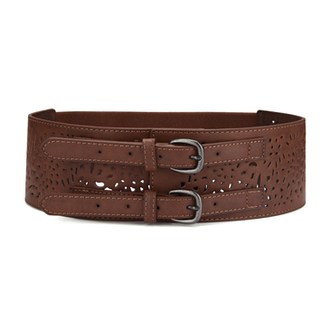Hollow Out Elasticated Buckle Belt