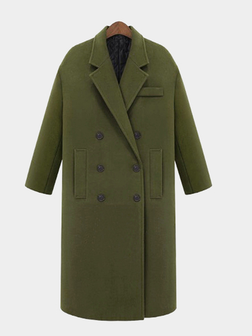 Guilted Duster Coat in Green