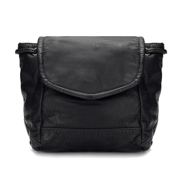 Black Leather-Look Backpack