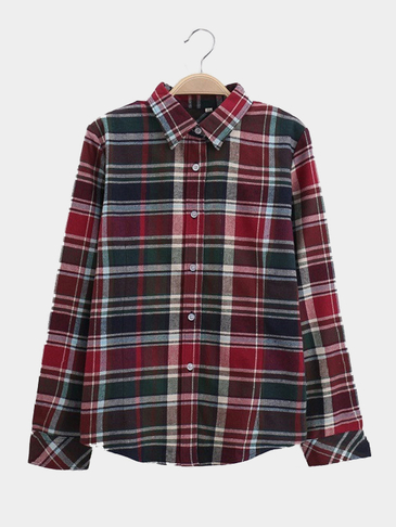 Checked Shirt In Fashion Design