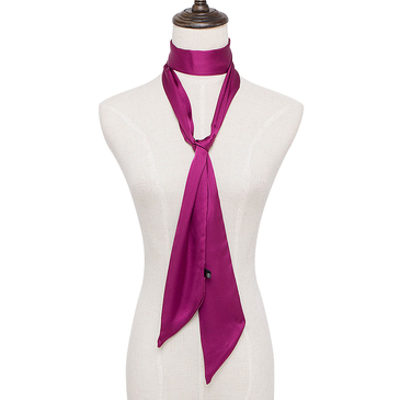 Purple Artificial Silk Neckerchief Scarf