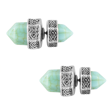 Mini Stone Stud Earrings