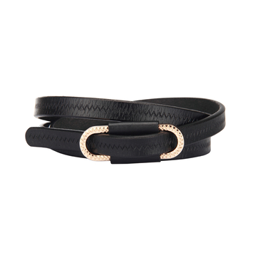 Black Zigzag Embossed Belt