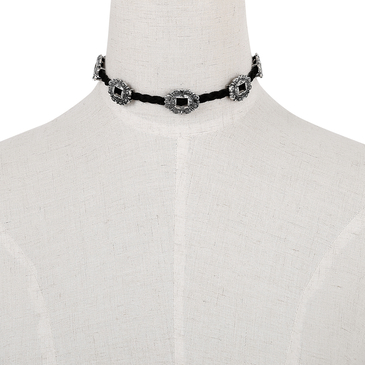 Vintage String Choker Necklace With Adjustable Length
