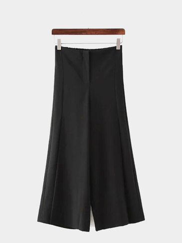 Loose Wide Leg Trousers in Black