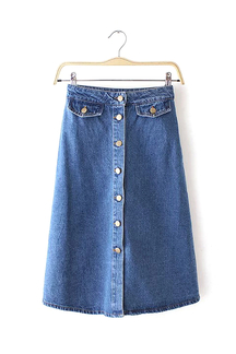 Knopf-up Denim-Rock