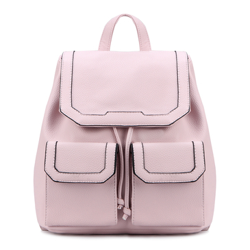 Pink Drawstring Design and Magnetic Closure Backpack