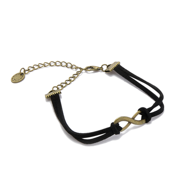 Black 8-shape Double-layered Bracelet