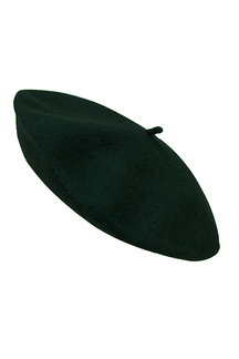 Short Peak Beret in Dark Green