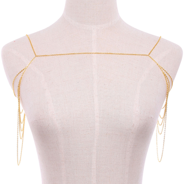 Gold Multilayer Drape Body Chain