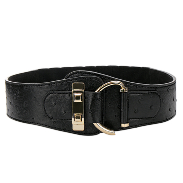 Leather-look Elasticated Waist Belt