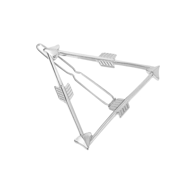 Silver Plated Triangular and Arrow Shape Hollow Out Hair Clip