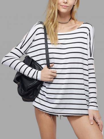 Long Sleeve Top in Stripe