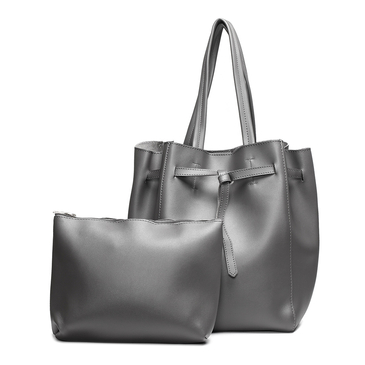 Grey Fashion Shoulder Bag with Small Bag