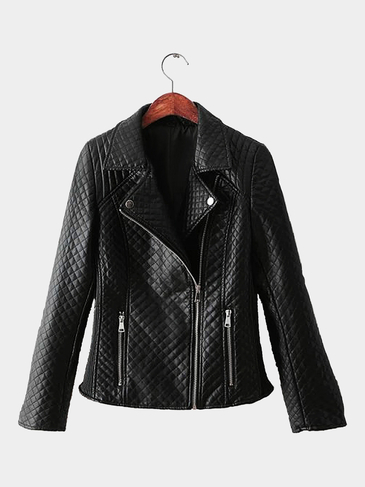 Diamond Leather-look Jacket