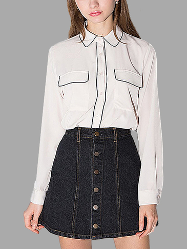 White Sweet Doll Collar Shirt