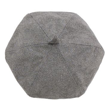 Suedette Octagonal Hat in Grey