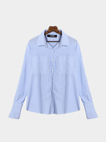 Fashion Easy-matched Stripe Pattern Shirt