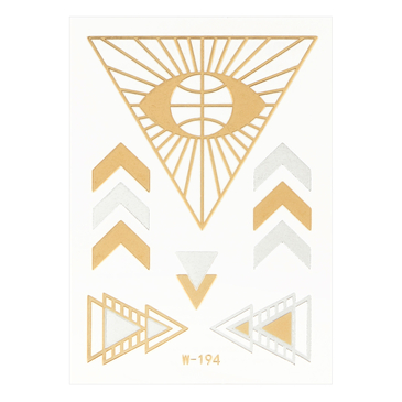 Triangle Metallic Temporary Body Tattoo Sticker