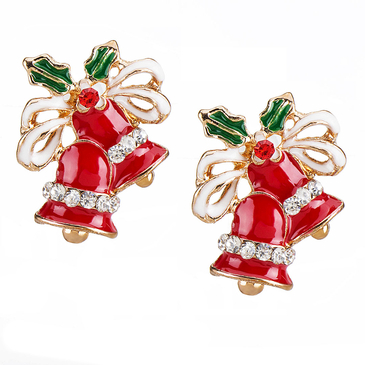 Christmas Bell Stud Earrings