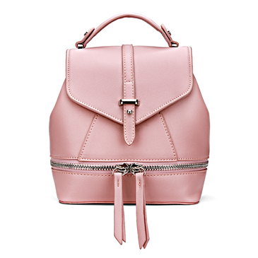Leder-Look Mini-Rucksack in All Pink