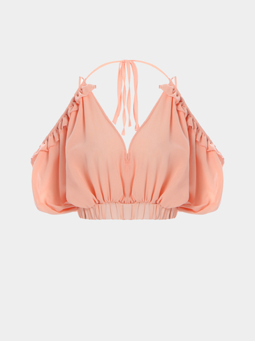 Tube Top Plunge Halter Sexy Strappy Ernte Top