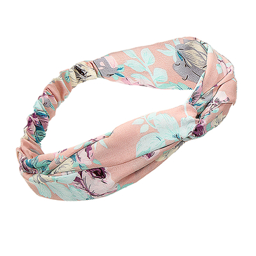 Floral Print Twisted Bandeau en rose