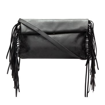 Black Fashion Clutch Bag with Tassel Embellished