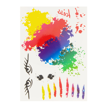 Colorful Graffiti Metallic Temporary Tattoo Sticker