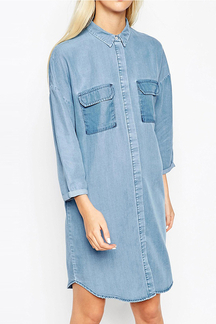 Denim Chuck On Shirt Dress