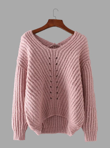 Fashion V-neck Long Sleeves Jumper