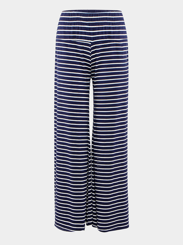 Stripe Wide Pantalones de Pierna