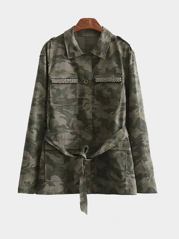 Classic Design Special Pocket Camouflage Coat
