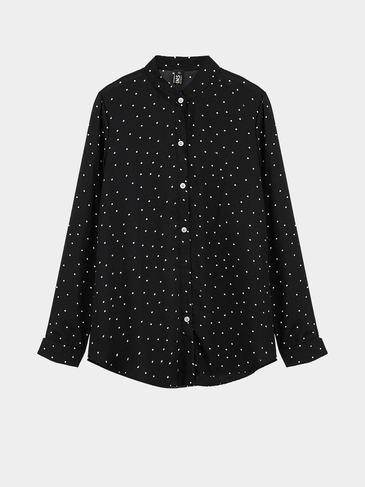 Blouse with Polka Dot