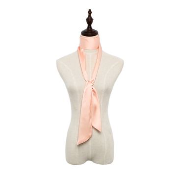 Silky-look Skinny Long Scarf in Pink