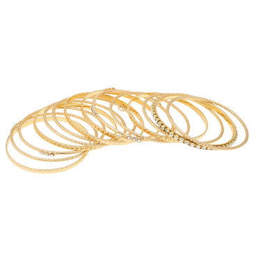 Gold Plated Layered Artificial Crystal Metal Bracelets