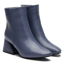 Pointed Toe Ankle Boots in Blue
