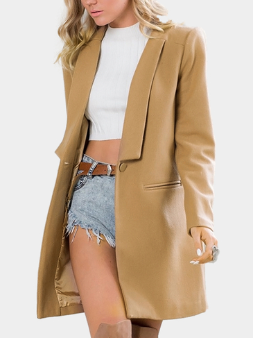 Bouton Khaki Duster Coat