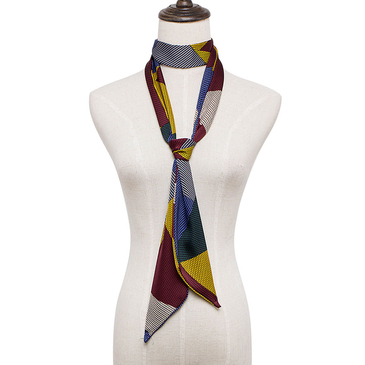 Geometrical Pattern Neckerchief scarf