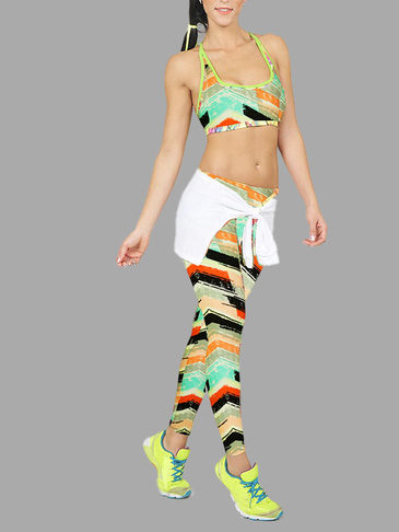 Colorful Stripe Pattern Fashion Leggings