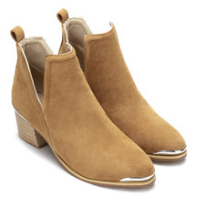Yellow Cut Out Bloc Bottes talon cheville