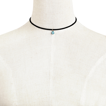 Eye Pendant Velvet Ribbon Choker Necklace
