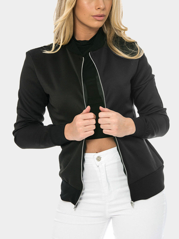 Black Fashion Long Sleeved Jacket