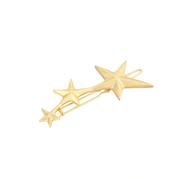 Charming Gold Plated Three Stars Shape Hair Accessories