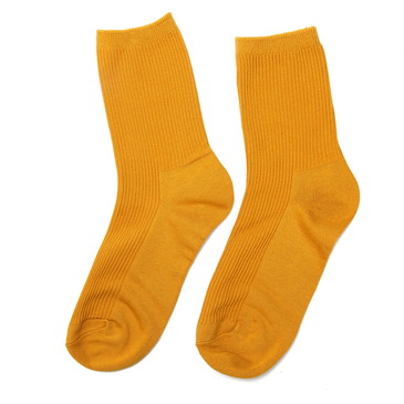 Mustard Yellow Ribbed Socks